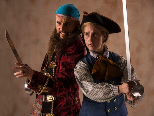 """Michael Elich plays Long John Silver and Sceri Sioux Ivers plays Jim Hawkins in the Utah Shakespeare Festival's 2017 production of """"Treasure Island."""""""