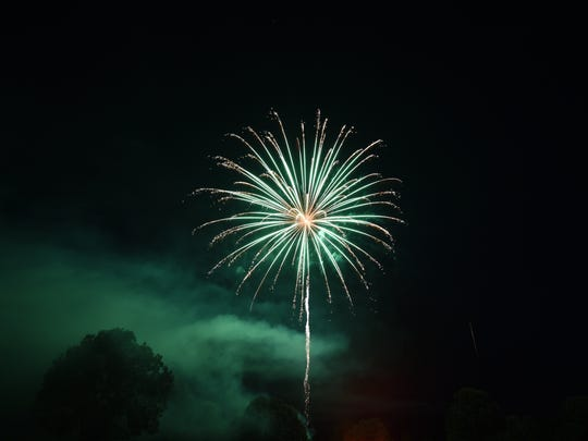 A scene from the 2017 Red White & Blue Fireworks Show.
