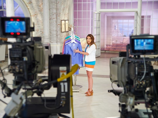 QVC host Courtney Cason on the QVC set.