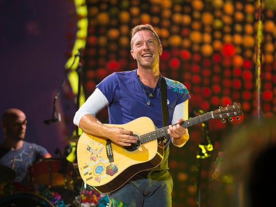 Coldplay made ample use of fireworks and confetti –