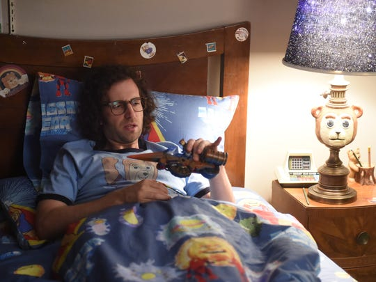 "As an adult, James Pope (Kyle Mooney) still seeks comfort in the ""Brigsby Bear"" children's show. It's weird, but affecting."