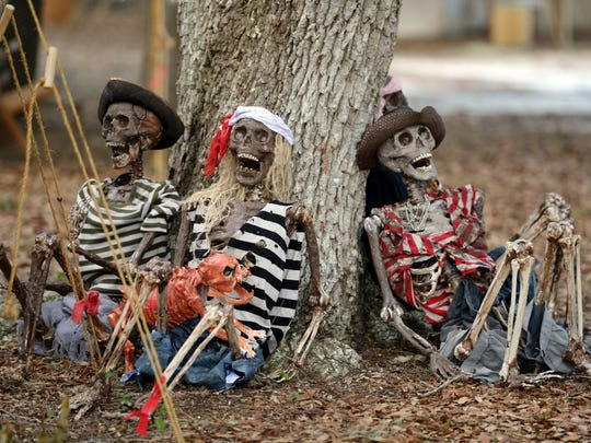 The Treasure Coast has several pirate festivals. These pirate skeletons were found at the Vero Beach Pirate Fest earlier this year. The Port Salerno Pirate Fest is Saturday.