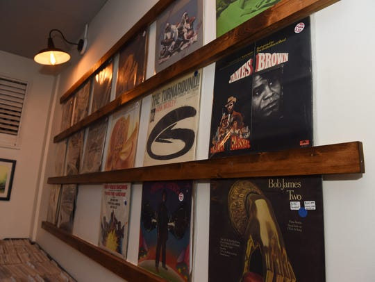 A view of some of the vinyl records at The Vinyl Room
