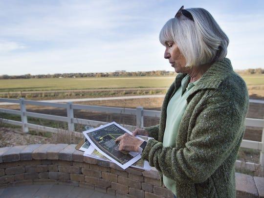 Cristi Baldino talks about the location for the gravel