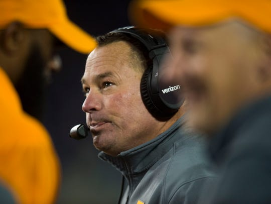 Tennessee Head Coach Butch Jones smiles after the Vols