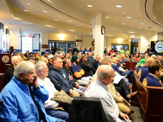 "Members of the community came out to voice their options on Tuesday, Oct. 31, 2017 at the Sussex County Court House in Georgetown during public comment in response to a possible introduction of a proposed ordinance ""Right-to-Work."""