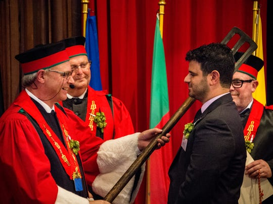 Chris DeCicco was knighted in a grand ceremony in Brussels, Belgium, in September 2017.