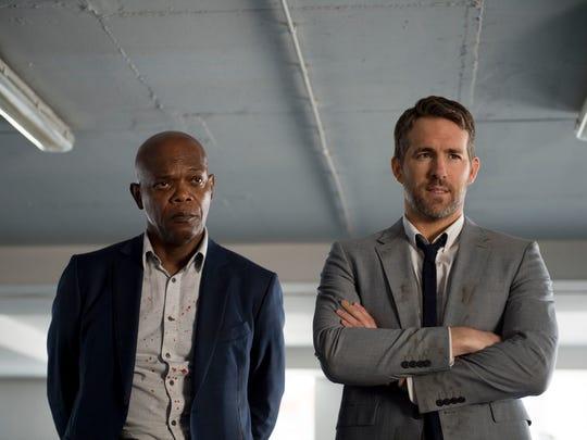 Samuel L. Jackson, left, and Ryan Reynolds star in