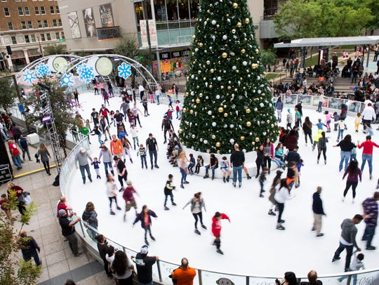 This whimsical rink in the heart of downtown Phoenix takes over Central Avenue and features a 36-foot-tall Christmas tree covered with twinkling lights.