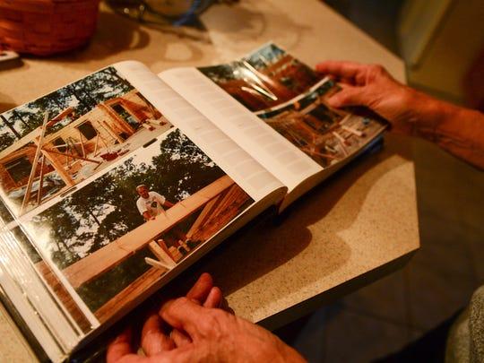 "Barbara ""Bobbi"" McClay shares photos of when her husband"