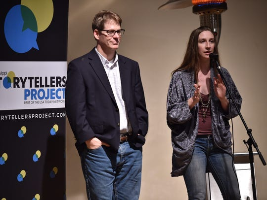 Clarion Ledger Editorial Cartoonist Marshall Ramsey (left) and Features Content Strategist Katie Eubanks host Mississippi Storytellers: Holidays & Family in November 2017.