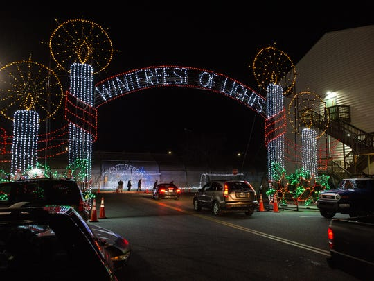 A view of a lighting display during Ocean City's Winterfest of Lights on Thursday, Nov. 16, 2017.
