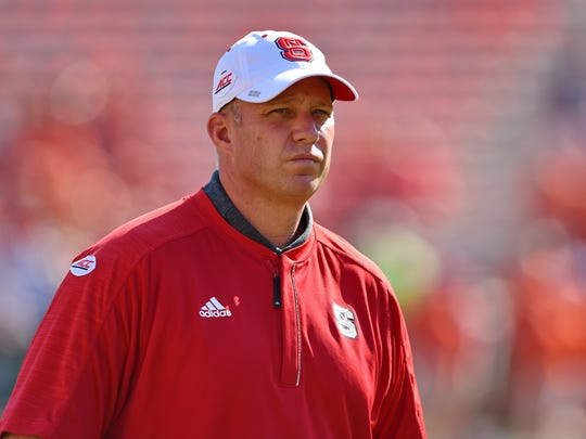 North Carolina State coach Dave Doeren