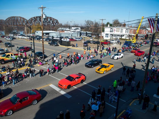 The Henderson Merchants' Annual Invitational Christmas Parade takes place in downtown Henderson, Ky., on Saturday, Dec. 2, 2017.