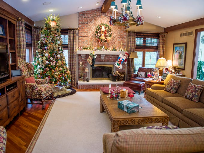The family room of Bill and Denise Bull's home in Rochester,