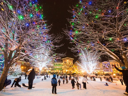 Visit Leavenworth to see The Village of Lights, which