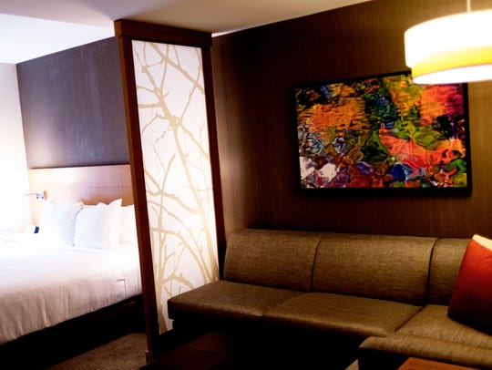 An interior view of the standard room at the newly