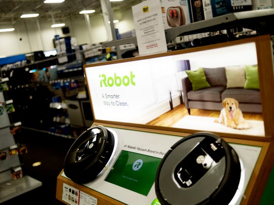 A smart appliances is seen for sale at Best Buy in