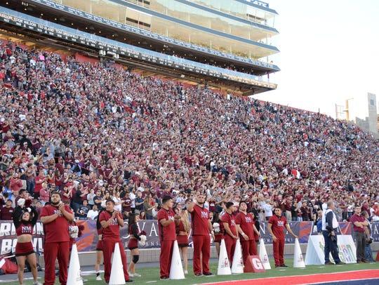 Arizona Stadium was packed with NMSU fans.