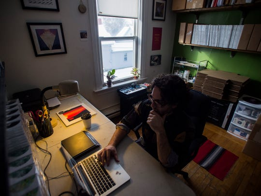 NNA Tapes co-founder Toby Aronson works out of his