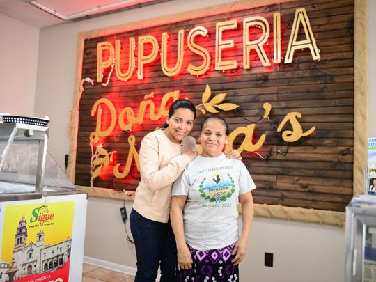 Maria Gomez and daughter Mirla Aleman pose for a photo at Dona Maria's Pupuseria in Seaford, Del. on Wednesday, Jan. 10, 2018.