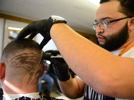 Paul Cusimano, Millville Barbershop Co-Owner, gets