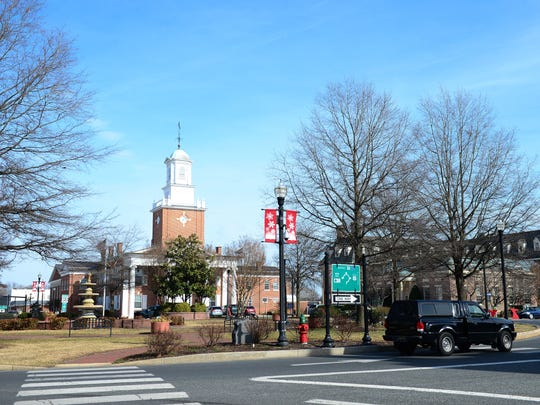 A view of The Circle in Georgetown on Thursday, Feb.