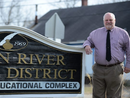 Mark Steele, Indian River superintendent, poses for