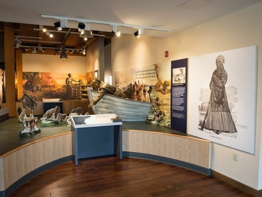 A view of an exhibit at the Harriet Tubman Underground Railroad Visitor Center on Wednesday, Feb. 14, 2018.