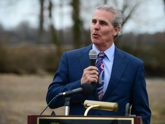 Mike Meoli, owner of The Meoli Companies, is one of the recipients of $4.3 million worth of Downtown Development District grants announced Monday. The rebate grant will allow him to soon begin construction on five duplex buildings that will add another 10 units to the Villas on Broad Creek in Laurel.