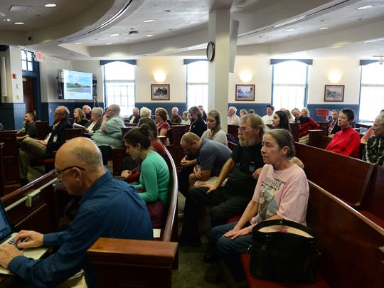 Members of the community attended the Sussex County Council meeting on Tuesday, Feb. 20, 2018 to voice their concerns about A CleanBay facility proposal that uses anaerobic digestion to break down the waste, resulting in methane gas that can be burned to power electricity.