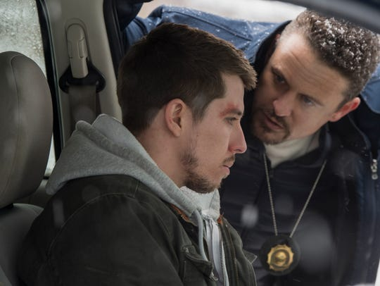Beau Knapp as Peter Jablonski (left) and David Lyons as Mike Diangelo on 'Seven Seconds.'