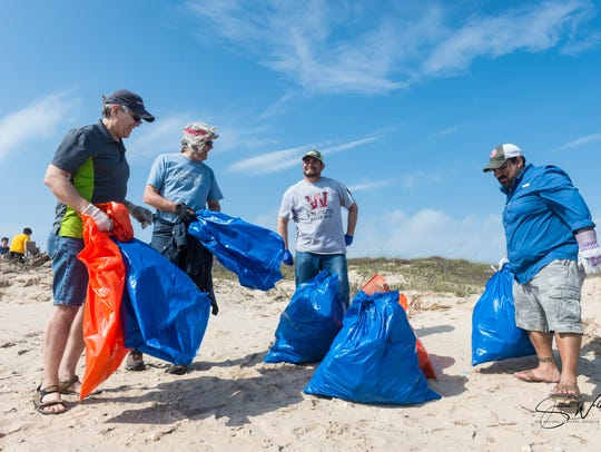 Volunteers cleaned about 22.5 miles of beach, which