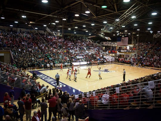 As eras have changed, interest in high school basketball has remained high, especially come the postseason. Evansville North played Center Grove during the Class 4A Regional at Seymour High School, March 18.