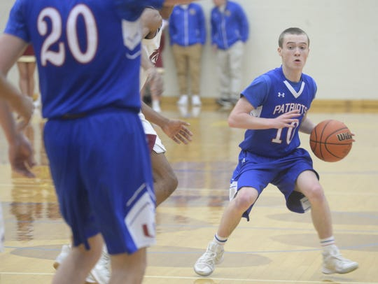 Union County's Cameron Sanford moves the ball during
