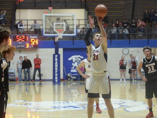 Seton Catolic's Jake Moynihan shoots a free-throw during