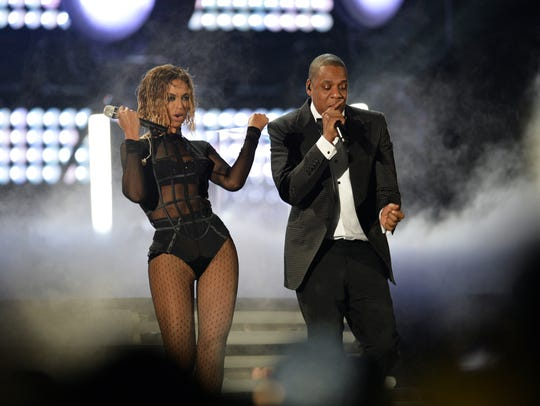 Beyonce and Jay-Z perform at the 56th Annual Grammy
