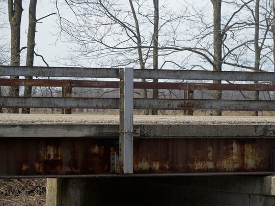 The bridge on Economy Road just north of Banning Road in Economy is one of several structurally deficient bridges in Wayne County.