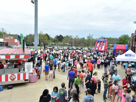 In this 2018 file photo, the Clarion Ledger held it's first Food Truck Mash-Up at the Mississippi Braves Trustmark Park in Pearl and the crowds were huge. This year's event will be held in Brandon at Lakeshore Park at The Rez.