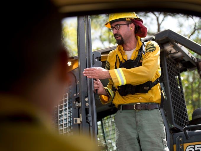 Luck Wildfire incident commander Jeff Curl, with the