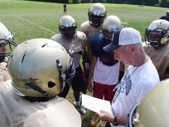 Beacon High School football coach, Tony Truscello,