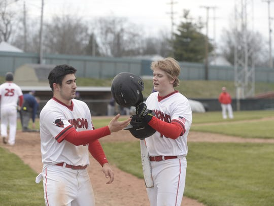 The Richmond High School baseball team defeated Muncie