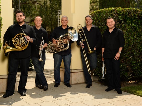 Boston Brass is appearing April 4, 2019, at the Weill