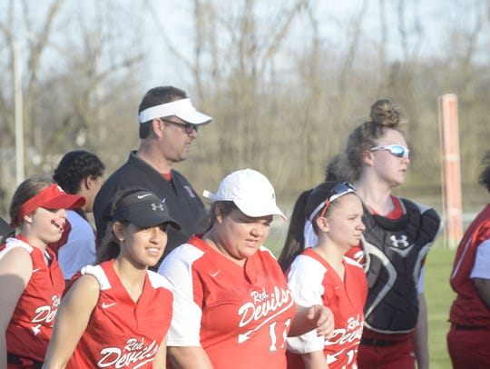 The Richmond High School softball team defeated Connersville