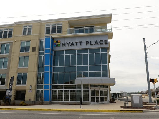 The Hyatt Place, built in 2013, resides on the Rehoboth