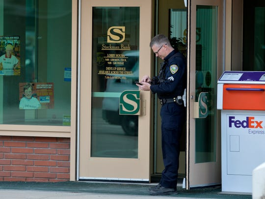 Great Falls Police respond to Stockman Bank on 1st