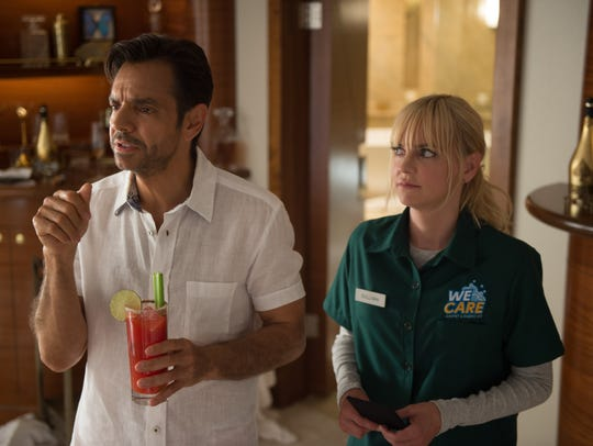 "In ""Overboard,"" Leonardo (Eugenio Derbez) and Kate"
