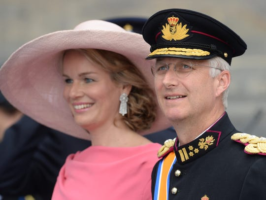 Prince Philippe of Belgium and his wife Princess Mathilde
