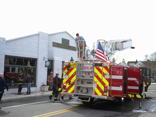 A fire broke out at Attics of My Life Retail Store and Studio at 11 South Main Street in Berlin, Md. on Monday, April 23, 2018 around 8:45am. Berlin, Ocean City and Snow Hill all responded to the call.