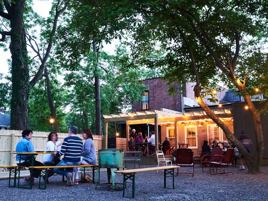 The Amsterdam has a great backyard outdoor space with